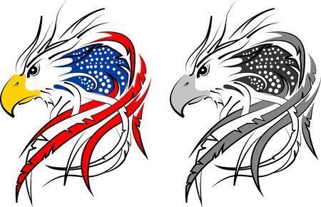 usa flag in eagle incorporated 2 Ilustração