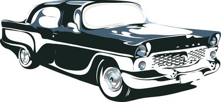 americana: car in vector format 4 Illustration