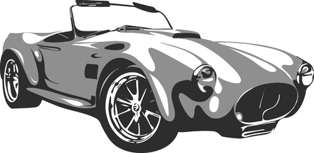 old cars: car in vector format 1