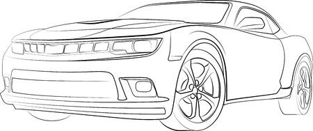 auto in vector-formaat 3 Stock Illustratie