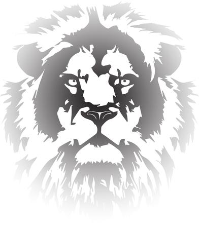 lion head tattoo transparent Vectores