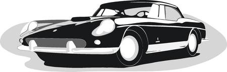 Retro car Vectores