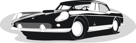 Retro car Ilustração