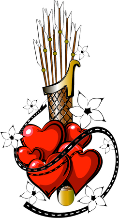 Valentine tattoo in vectorial forrmat