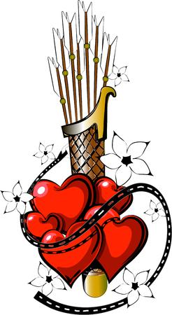 Valentine-tatoeage in vectoriële forrmat