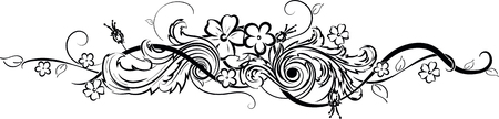 A flower tattoo its author work isolated on plain background