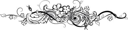 Een bloem tattoo zijn auteur werk geïsoleerd op effen achtergrond