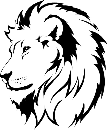 Lion head in vector interpretation 16 Çizim