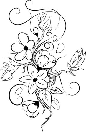 Floral tattoo in author interpretation