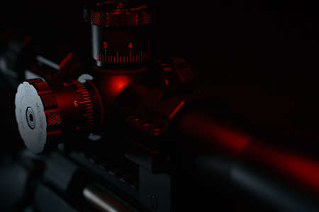 Close-up Rifle Scope 版權商用圖片