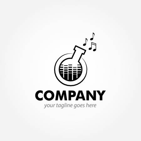 logo design for music, record and studio Иллюстрация