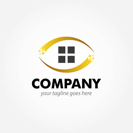 logo design for luxurious modern home apartment and building Иллюстрация