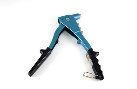 clincher: Hand Riveter tool isolated on white background Stock Photo