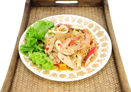 mama: Fried Thai Mama Instant Noodles Fried Thai Mama Tom yum,Spicy noodle Stock Photo
