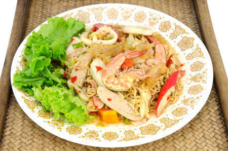 mama: Fried Thai Mama Instant Noodles Fried Thai Mama Tom yum Stock Photo