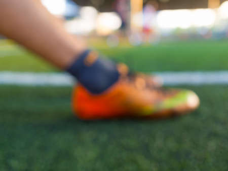 Blurry,motion blur.players playing football