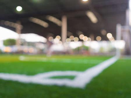 arquero de futbol: Blurry, motion blur.players jugando al fútbol