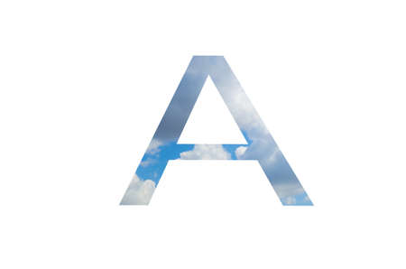 Letter A logo icon design with clouds Фото со стока