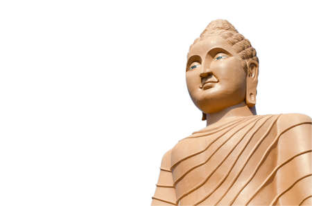 Buddha statue buddha image used as amulets of Buddhism religion isolated on the white background with clipping path Фото со стока - 89274972