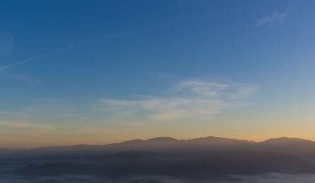 Colorful Sunrise over the mountain hills,Sunrise in mountains,Sunrise landscape