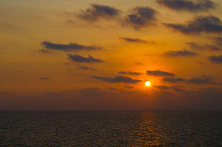 Scenic view of beautiful sunset above the sea in thailand
