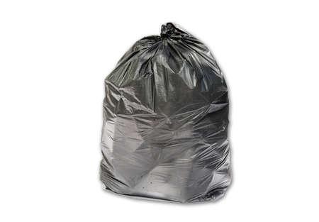 Trash bag isolated on white background Фото со стока