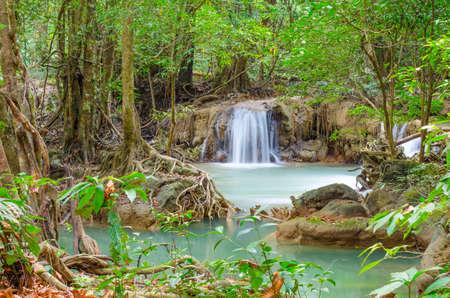 Deep forest waterfall at Namtok thi Lo Su waterfall National Park ,Umphang ,Tak Province Thailand