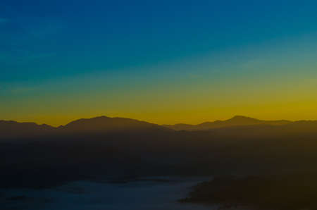 Colorful Sunrise over the mountain hills,Sunrise in mountains,Sunrise landscape