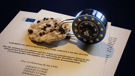 ePrivacy DSGVO Europe EU GDPR Standard-Bild - 102894709
