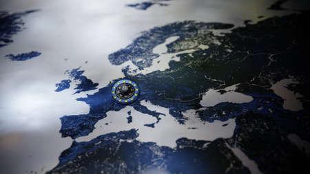 GDPR Europe DSGVO Privacy Policy Map Lock EU Standard-Bild - 102909628