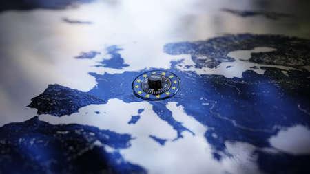 GDPR Europe DSGVO Privacy Policy Map Lock EU Europe