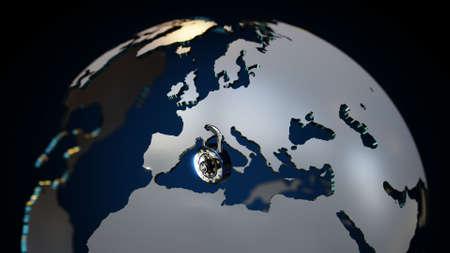 GDPR Europe Lock DSGVO Standard-Bild - 102889605