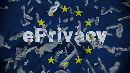 ePrivacy GDPR Data Protection Law Regulation Europe Standard-Bild