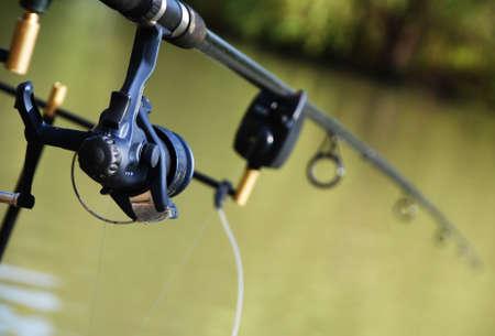 alarmed: Fishing rod sitting on an alarmed pod