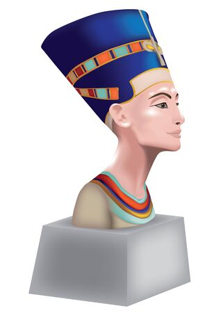 Bust of Nefertiti, Queen of Egypt Banco de Imagens - 13043037
