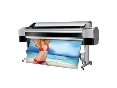 Plotter with bikini girl printed