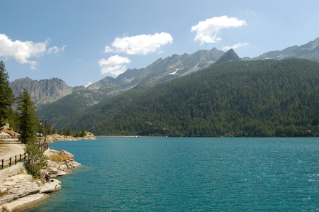 reale: Ceresole Reale Lake, Piedmont-Italy Stock Photo