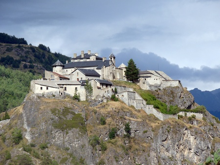 Queyras Fortress, medieval castle in the Hautes Alpes, France Stock Photo - 14163705
