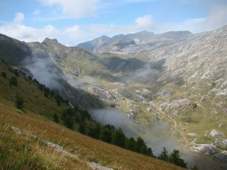Traveling to the Col de Tende (Italy/France) Imagens - 14164007