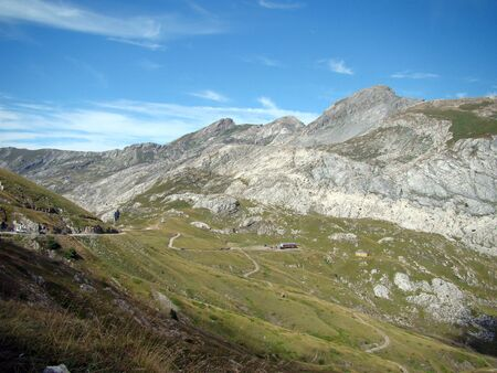 Traveling to the Col de Tende, pass on the border between Italy and France Banco de Imagens - 14163707