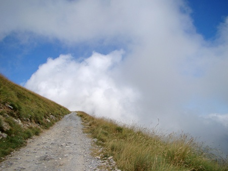 Road on the Col de Tende, pass on the border between Italy and France Banco de Imagens