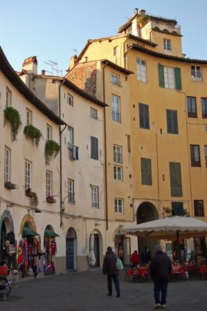 Lucca Square Amphitheater, Tuscany-Italy Stock Photo - 14148431