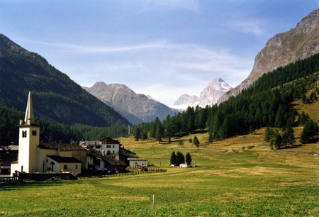 italian village: Rhemes Notre Dame, Valle dAosta - Italy Stock Photo