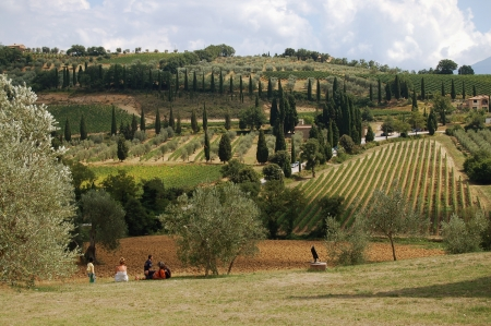 Countryside in typical Tuscan Landscape Stock Photo - 14163680