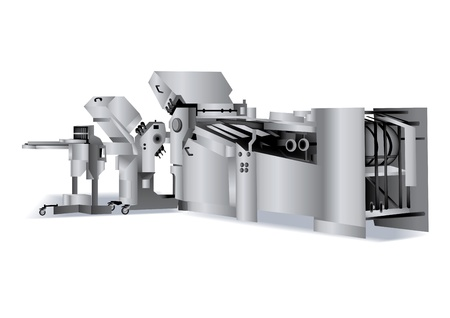 Printing solutions: folding-machine for book bindery Vector