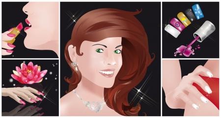 爪のアート、化粧品、美容、顔や髪のケアに関する 5 画像