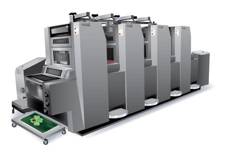 プリンター 4 色のオフセット印刷ソリューション