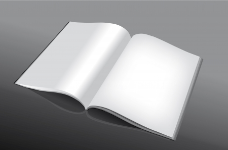 Open and empty book or magazine for all purposes Vector