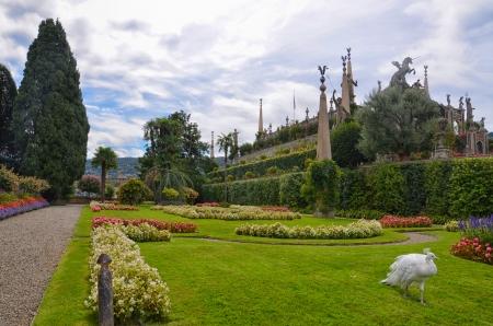 公園のボッロメオ宮殿、イゾラ ベラ, イタリア 写真素材