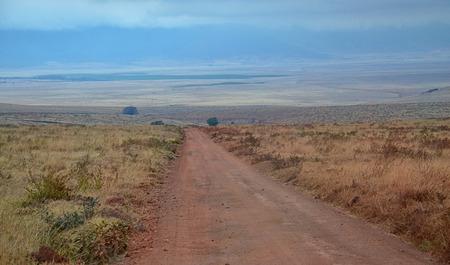 Road to Ngorongoro National Park, Tanzania Banco de Imagens